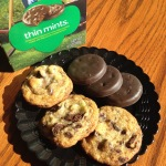 Chocolate chip cookies with Thin Mints inside