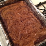 Brownies with a cookie butter swirl